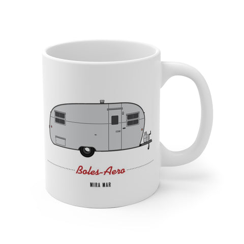 Boles Aero Mira Mar (1951) , Ceramic Mug - Vintage Trailer Field Guide