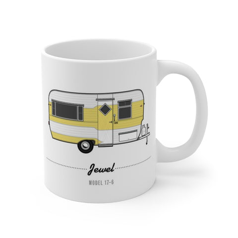 Jewel Model 17-6 (1957), Ceramic Mug - Vintage Trailer Field Guide