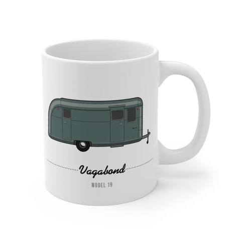 Vagabond Model 19 (1950), Ceramic Mug - Vintage Trailer Field Guide