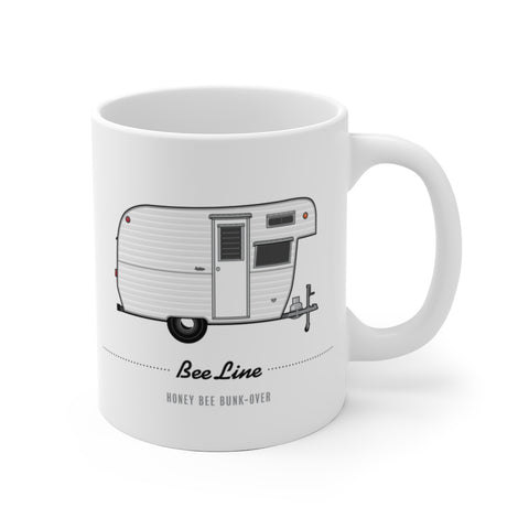 Bee Line Honey Bee Bunk-Over (1962), Ceramic Mug - Vintage Trailer Field Guide