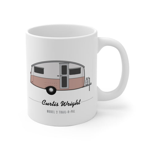 Curtis Wright Model 2 Trail-R-Pal (1946), Ceramic Mug - Vintage Trailer Field Guide