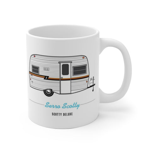 Scotty Deluxe (1979), Ceramic Mug - Vintage Trailer Field Guide