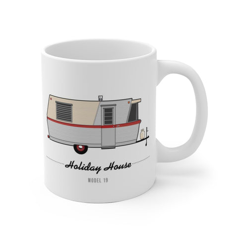 Holiday House Model 19 (1960), Ceramic Mug - Vintage Trailer Field Guide