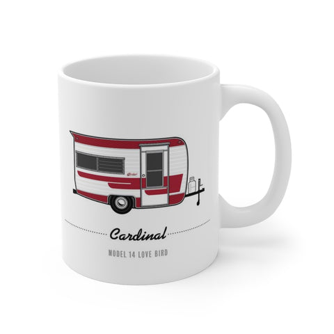 Cardinal Model 14 Love Bird (1970), Ceramic Mug - Vintage Trailer Field Guide