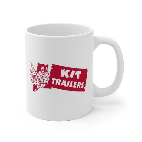 1940s Kit Trailers Cat Logo, Ceramic Mug - Vintage Trailer Field Guide