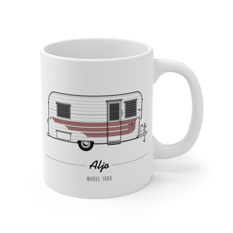Aljo Model 1800 (1959), Ceramic Mug - Vintage Trailer Field Guide