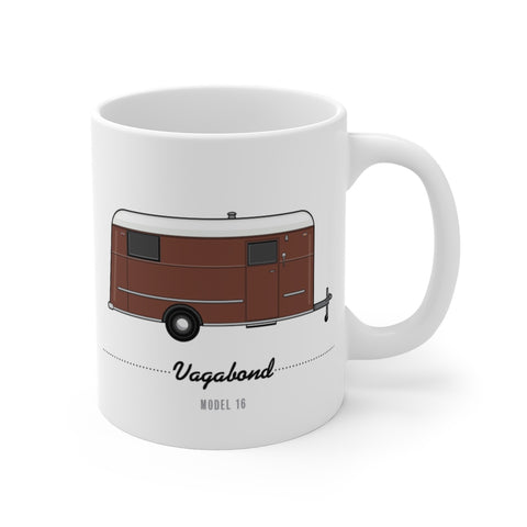 Vagabond Model 16 (1941), Ceramic Mug - Vintage Trailer Field Guide
