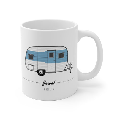 Jewel Model 15, Blue (1954), Ceramic Mug - Vintage Trailer Field Guide