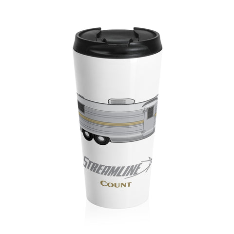 Streamline Count Stainless Steel Travel Mug - Vintage Trailer Field Guide