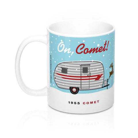 On Comet / 1955 Comet, Ceramic Mug 11 oz - Vintage Trailer Field Guide