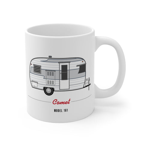 Comet Model 161 (1962), Ceramic Mug - Vintage Trailer Field Guide