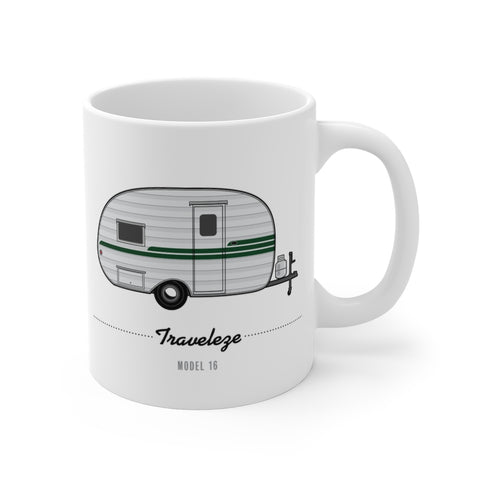 Traveleze Model 16 (1954), Ceramic Mug - Vintage Trailer Field Guide