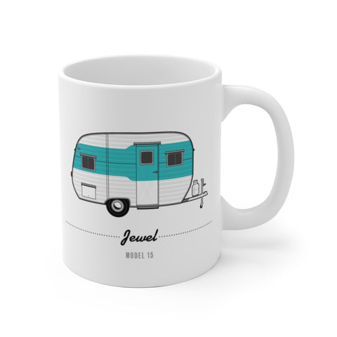 Jewel Model 15, Turquoise (1954), Ceramic Mug - Vintage Trailer Field Guide