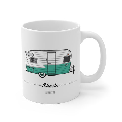 Shasta Airflyte (1961), Ceramic Mug - Vintage Trailer Field Guide