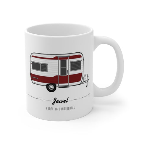 Jewel Model 16 Continental (1960), Ceramic Mug - Vintage Trailer Field Guide
