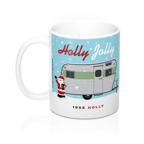 Holly Jolly / 1955 Holly, Ceramic Mug 11 oz - Vintage Trailer Field Guide