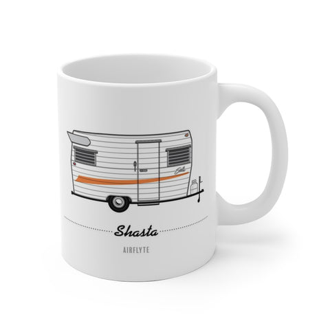 Shasta Airflyte (1967), Ceramic Mug - Vintage Trailer Field Guide