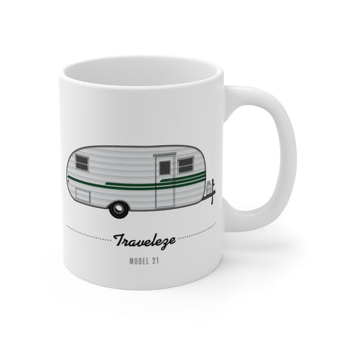 Traveleze Model 21 (1950), Ceramic Mug - Vintage Trailer Field Guide