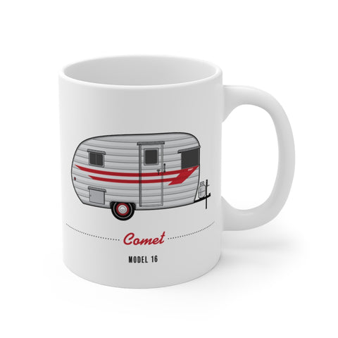 Comet Model  16 (1956), Ceramic Mug - Vintage Trailer Field Guide