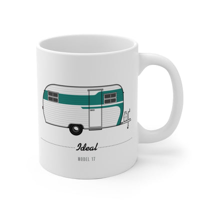 Ideal Model 17 (1954), Ceramic Mug - Vintage Trailer Field Guide
