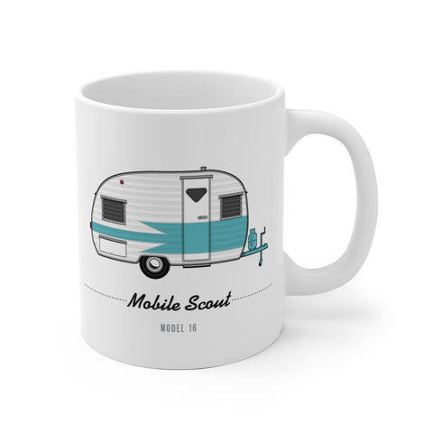 Mobile Scout Model 16 (1960), Ceramic Mug - Vintage Trailer Field Guide
