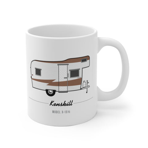 Kenskill Model X-15 (1960), Ceramic Mug - Vintage Trailer Field Guide