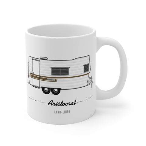 Aristocrat Land Liner (1967), Ceramic Mug - Vintage Trailer Field Guide