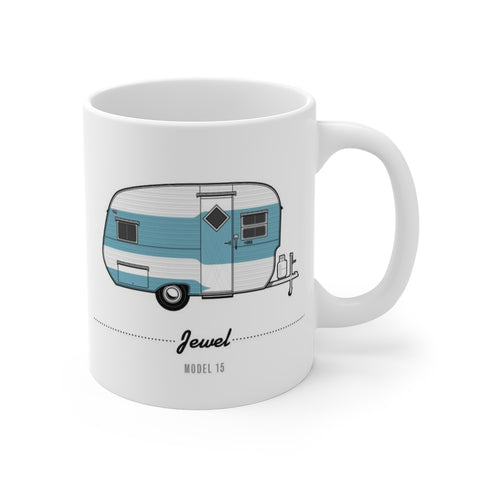 Jewel Model 15 (1957), Ceramic Mug - Vintage Trailer Field Guide