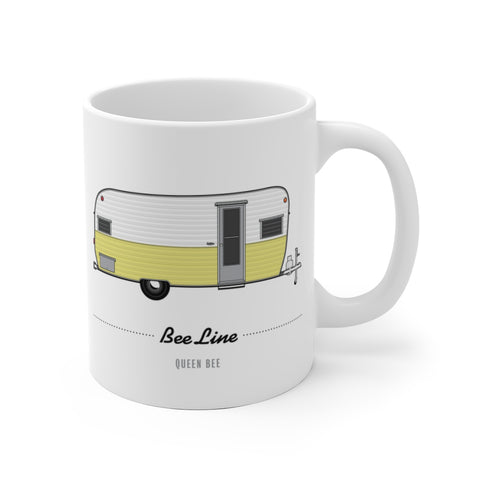Bee Line Queen Bee (1963), Ceramic Mug - Vintage Trailer Field Guide