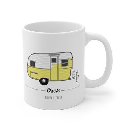 Oasis Fifteen (1957), Ceramic Mug - Vintage Trailer Field Guide