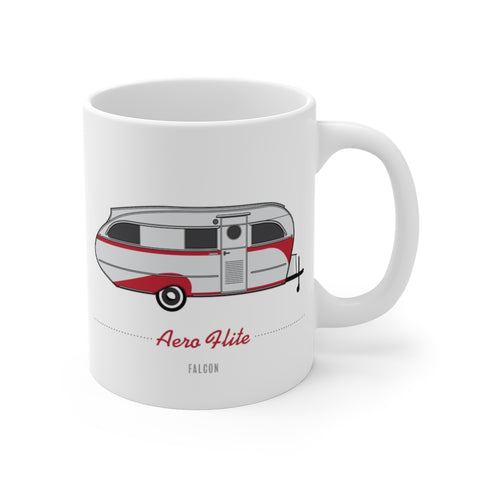 Aero Flite Falcon (1947), Ceramic Mug - Vintage Trailer Field Guide