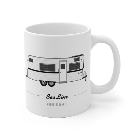 Bee Line 220-FTL (1972), Ceramic Mug - Vintage Trailer Field Guide