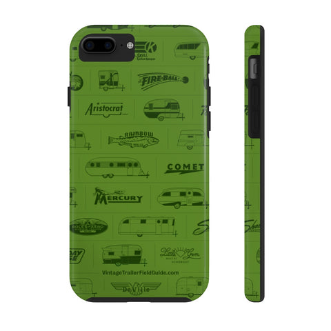 Field Guide Cover Design Tough Phone Case - Vintage Trailer Field Guide