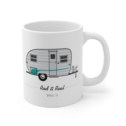 Rod and Reel Model 15 (1952), Ceramic Mug - Vintage Trailer Field Guide