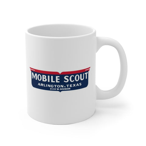 Mobile Scout Manufacturer Logo, Ceramic Mug - Vintage Trailer Field Guide