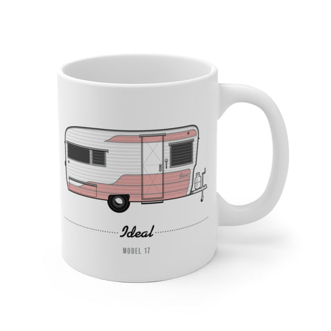 Ideal Model 17 (1958), Ceramic Mug - Vintage Trailer Field Guide
