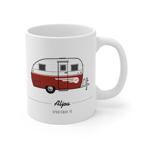 Aljoa Sportsman 16 (1953, Red), Ceramic Mug - Vintage Trailer Field Guide