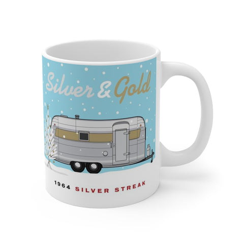 Silver & Gold / 1964 Silver Streak, Ceramic Mug 11 oz - Vintage Trailer Field Guide