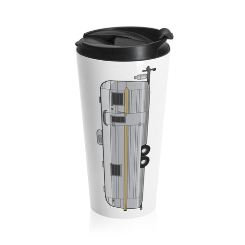 Streamline Count (Vertical) Stainless Steel Travel Mug - Vintage Trailer Field Guide