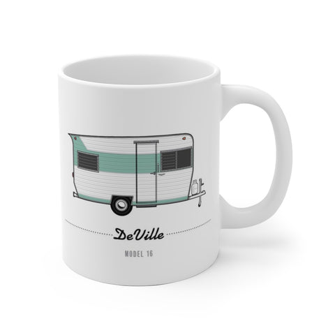 DeVille Model 16 (1963), Ceramic Mug - Vintage Trailer Field Guide
