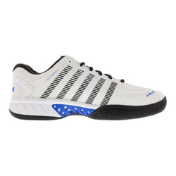 K-Swiss Men's Hypercourt Express White and Brilliant Blue