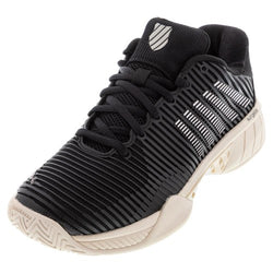 K-Swiss Women's Hypercourt Express 2 Tennis Shoes Black and Rose Gold