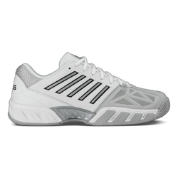 K-Swiss Men's Bigshot Light 3 Tennis Shoes White and Silver