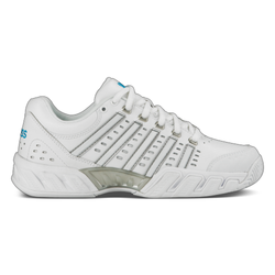 K-Swiss Women's Bigshot Light Leather Tennis Shoes White and Hawaiian Ocean