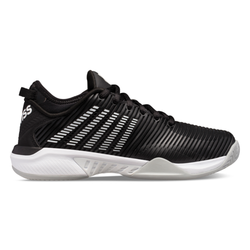 K-Swiss Women's Hypercourt Supreme Tennis Shoes Black and White