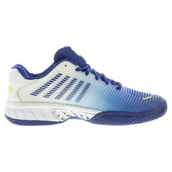 K-Swiss Men's Hypercourt Express 2 Tennis Shoes White and Limoges