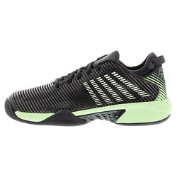 K-Swiss Men's Hypercourt Supreme Tennis Shoes Blue Graphite and Soft Neon