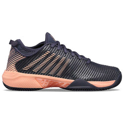 K-Swiss Women's Hypercourt Supreme Graystone and Peach Nectar