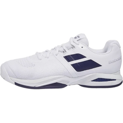 Babolat Men's Propulse Blast Tennis Shoes White and Estate Blue
