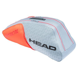 Head Radical Combi 6pk Tennis Bag Grey and Orange